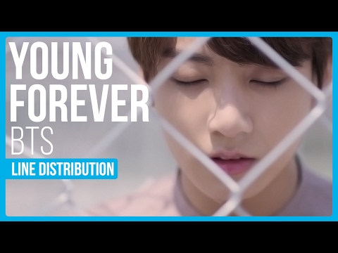 BTS - Young Forever Line Distribution (Color Coded)