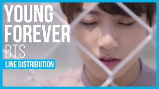 Video BTS - Young Forever Line Distribution (Color Coded) download MP3, 3GP, MP4, WEBM, AVI, FLV Maret 2018