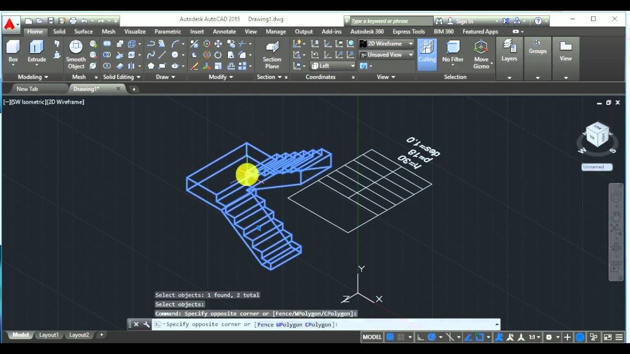 Escalera autocad 3d youtube for Escaleras 3d max