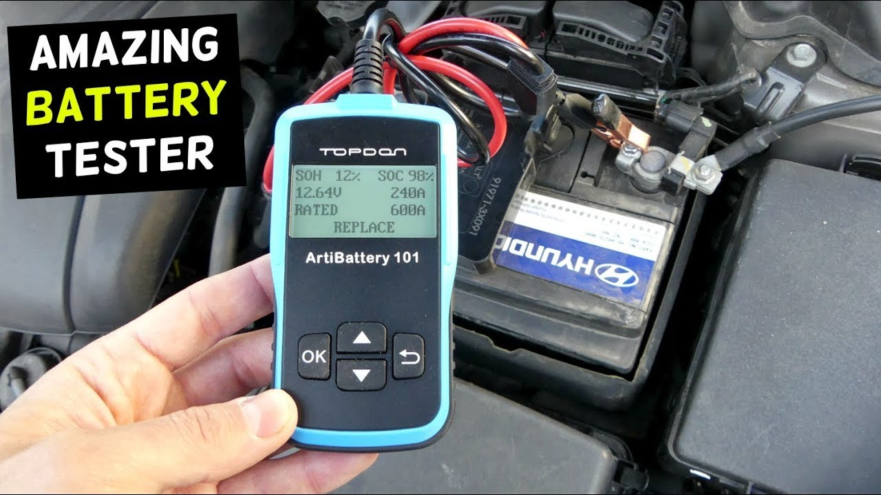 Topdon AB101 Car Battery Load Tester, Battery Health Status Test ...