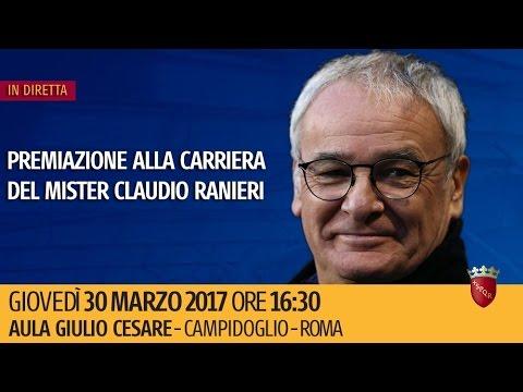 Premiazione alla carriera del mister Claudio Ranieri