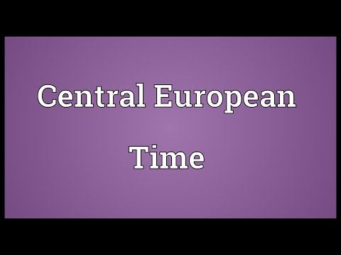 Central European Time Meaning