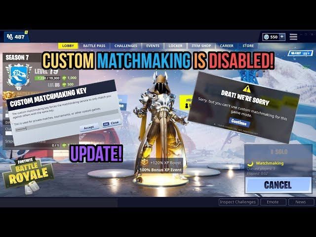 Matchmaking disabled