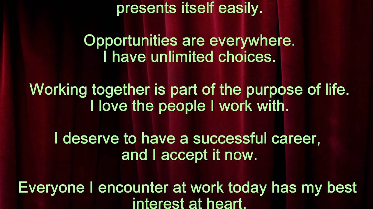 louise l hay affirmations for job success youtube - Successful Career How To Be Successful In Career In Life