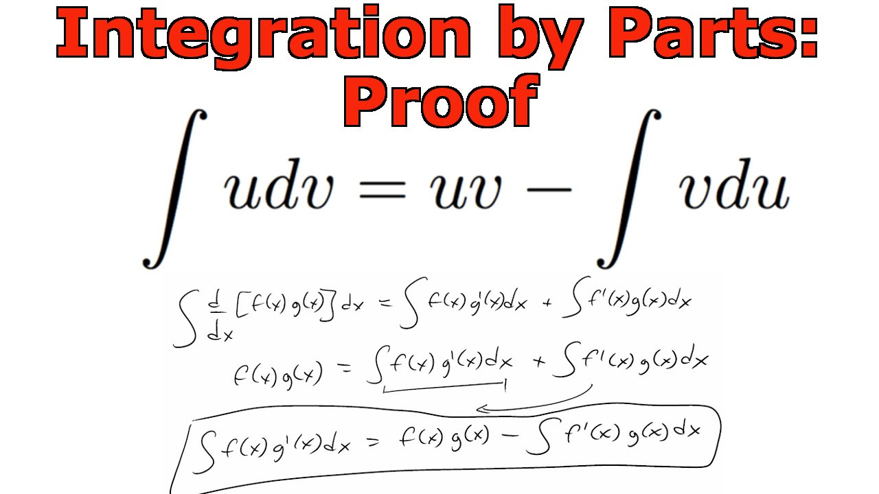 Integration By Parts Proof  Youtube