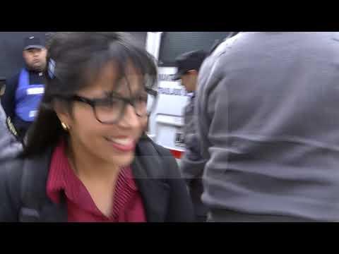Primer día de juicio: la salida de Luciana Lemos