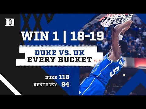 Duke 118, Kentucky 84 | Every Bucket (11/6/18)
