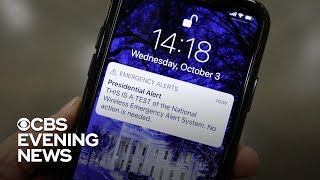 Presidential alert sent to 75 percent of the country
