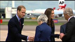 William and Kate depart on first official foreign tour