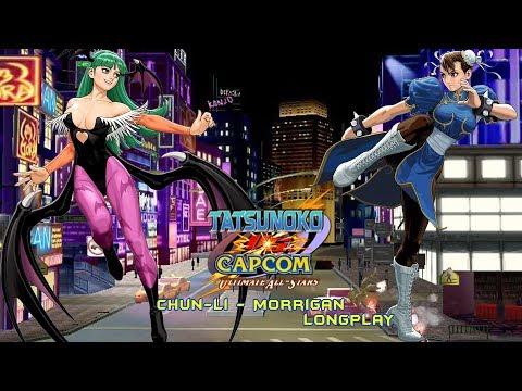 Tatsunoko vs. Capcom [Wii] - Arcade Mode - Chun-Li & Morrigan