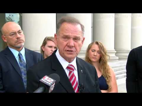 Roy Moore storms out of hearing to pick justices for appeal