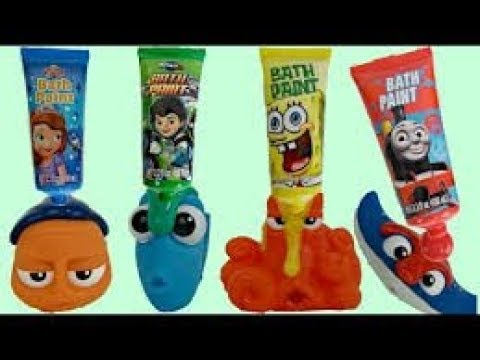 FINDING DORY Bath Time Toys with Finger Paint Soap,  Nemo & Hank