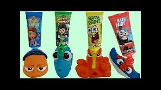 FINDING DORY Bath Time Toys with Finger Paint Soap,  Nemo & Hank thumbnail
