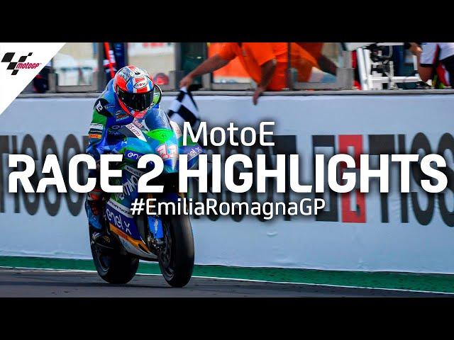 MotoE Race 2 Highlights | 2020 #EmiliaRomagnaGP