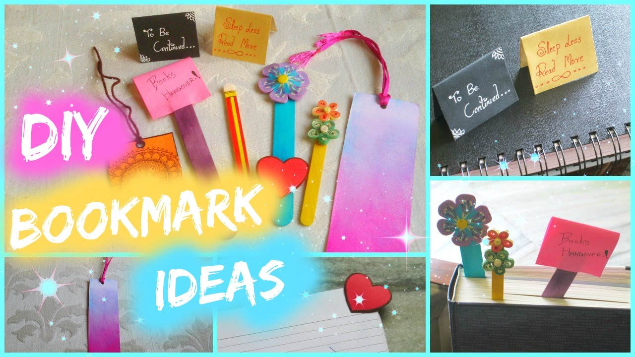 6 diy bookmark ideas
