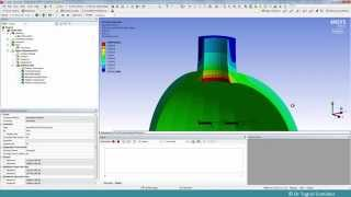 Spherical Pressure Vessel with a Cylindrical Nozzle FEA - Part 1 2D Axisymmetric Analysis
