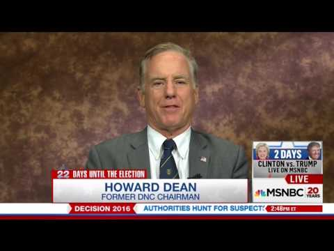 Howard Dean Was Really Not Ready for This MSNBC Interview