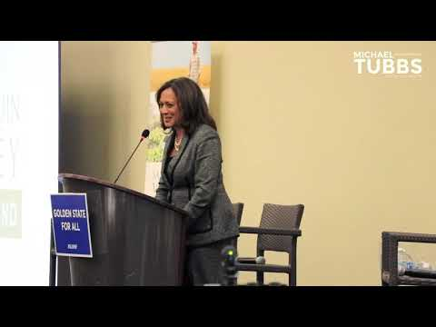 Senator Kamala Harris on Mayor Michael Tubbs