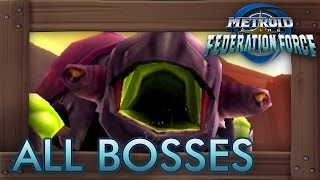 Metroid Prime Federation Force - All Bosses