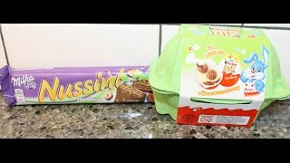 From Germany! Milka: Nussini And Kinder Joy + Uberraschung Review