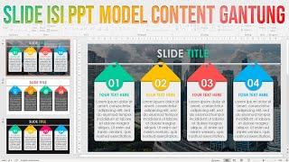 Cara Membuat Power Point Menarik model Slide Gantung