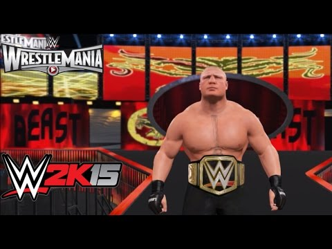WWE 2K15 PC Mod: Wrestlemania 31 Arena and Brock Lesnar 2015 Updated Graphics & Attire MOD!!