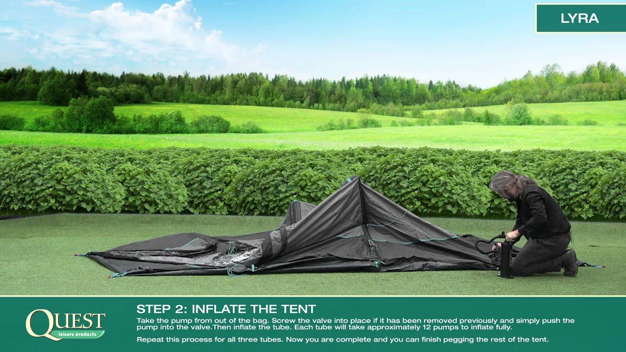 & Travel Smart Lyra Air Tent - YouTube