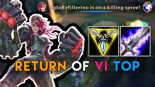 WHY CAN VI DO THIS MUCH DAMAGE? NEW FULL AD VI TOP IS SO OP! (LoL Best Moments)