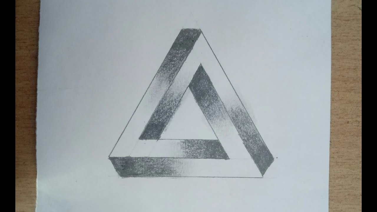 3d Drawing   How To Draw The Impossible Triangle