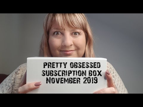 Pretty obsessed beauty box and try on style subscription unboxing November 2018