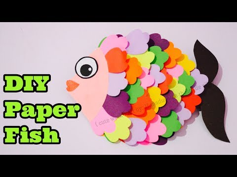 DIY Paper Fish Crafts / Easy Handwork Crafts Idea / ( Crafts For Kids )