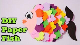 DIY Paper Fish Crafts / Easy Handwork Crafts Idea / ( Crafts For Kids )