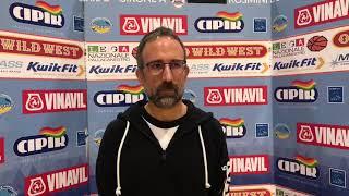 La dura analisi di coach Valli dopo la sconfitta interna con Cecina