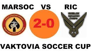 Roblox Soccer Cup | MARSOC vs RIC