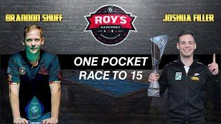 Joshua Filler vs Brandon Shuff - One Pocket Race to 15