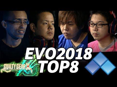 EVO 2018 GUILTY GEAR XRD R2 TOP8 (TIMESTAMP) Omito Machabo LostSoul Nage Fumo Zadi Rion Teresa