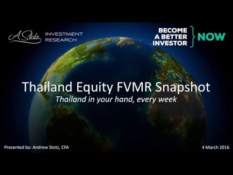 Thailand Equity FVMR Snapshot - Become a Better Investor