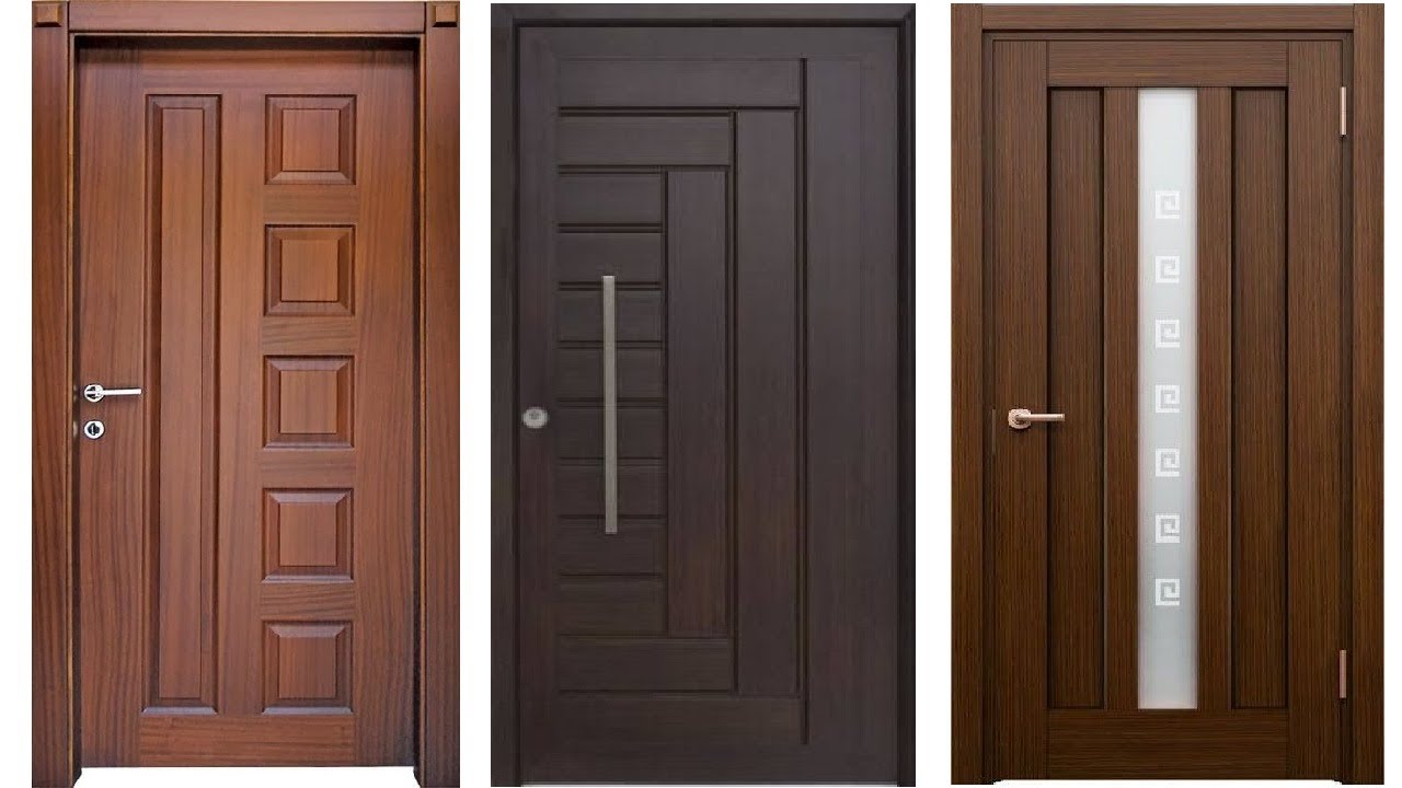 Top 30 modern wooden door designs for home 2017 pvc door for Wooden single door design for home