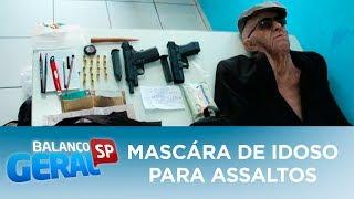 Ex-funcionário usa máscara de idoso em tentativa de assalto