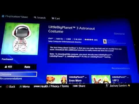 Little Big Planet 3 Space Suit Costumes for PS4