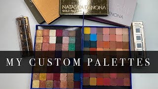 Making Custom Palettes with my Natasha Denona Eyeshadows