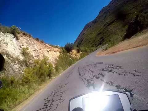 Ducati Monster 1200s Franschhoek pass South Africa