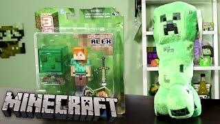 minecraft series 3 alex overworld articulated action figure creeper plushie
