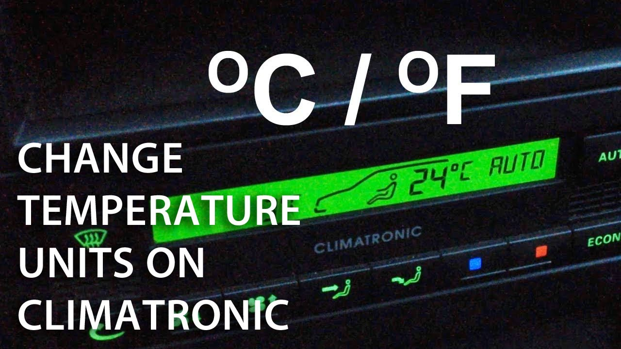 How To Change Temperature Between Celsius Fahrenheit In