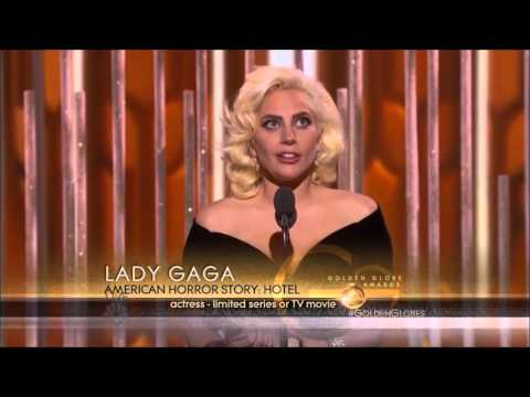 Lady Gaga Wins The Golden Globe 2016 Mp3