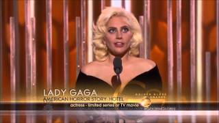 Lady Gaga Wins The Golden Globe 2016