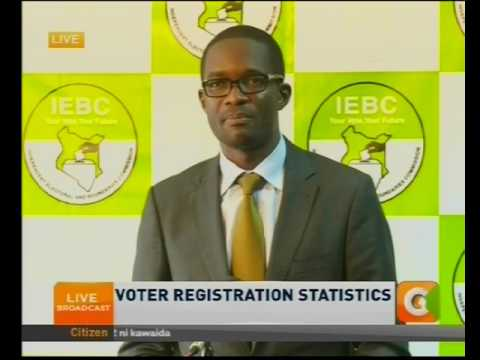 Chiloba: Voter Registration statistics