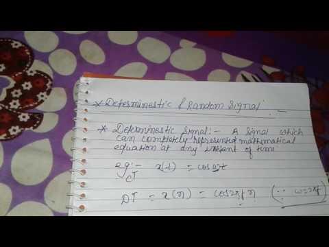 Deterministic and random signal