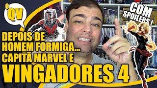 Homem Formiga, Vespa e Capitã Marvel em VINGADORES 4 ( SPOILERS ) - oQV