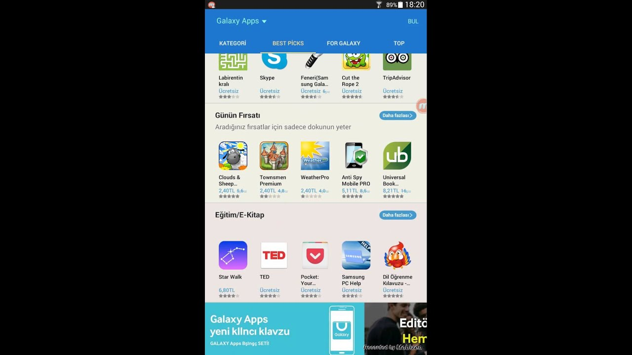 Samsung Apps Galaxy Apps Inceleme Site Tanitimi
